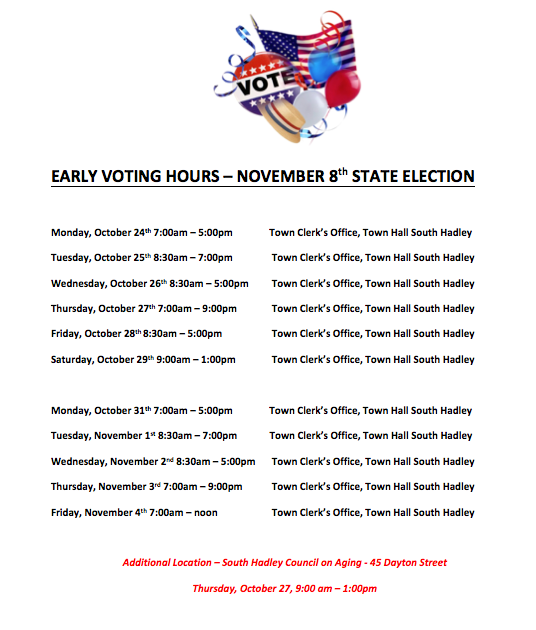 Early Voting Hours Screenshot