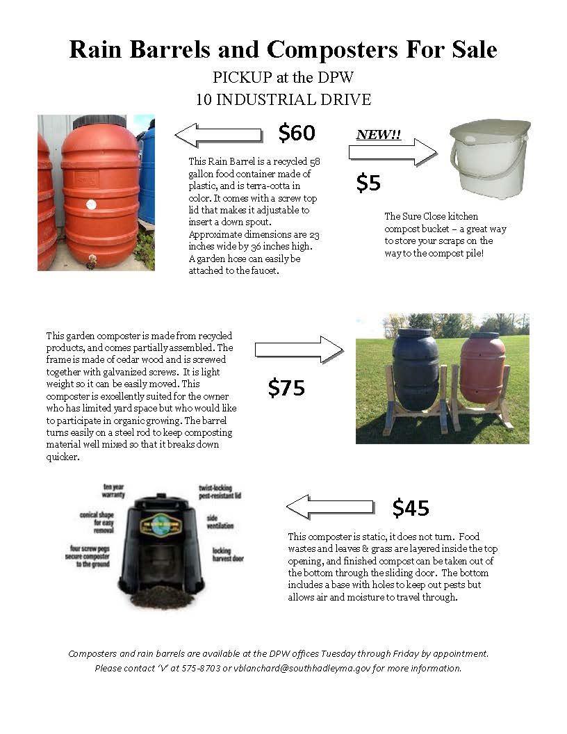 2017 Rain Barrel and Composter