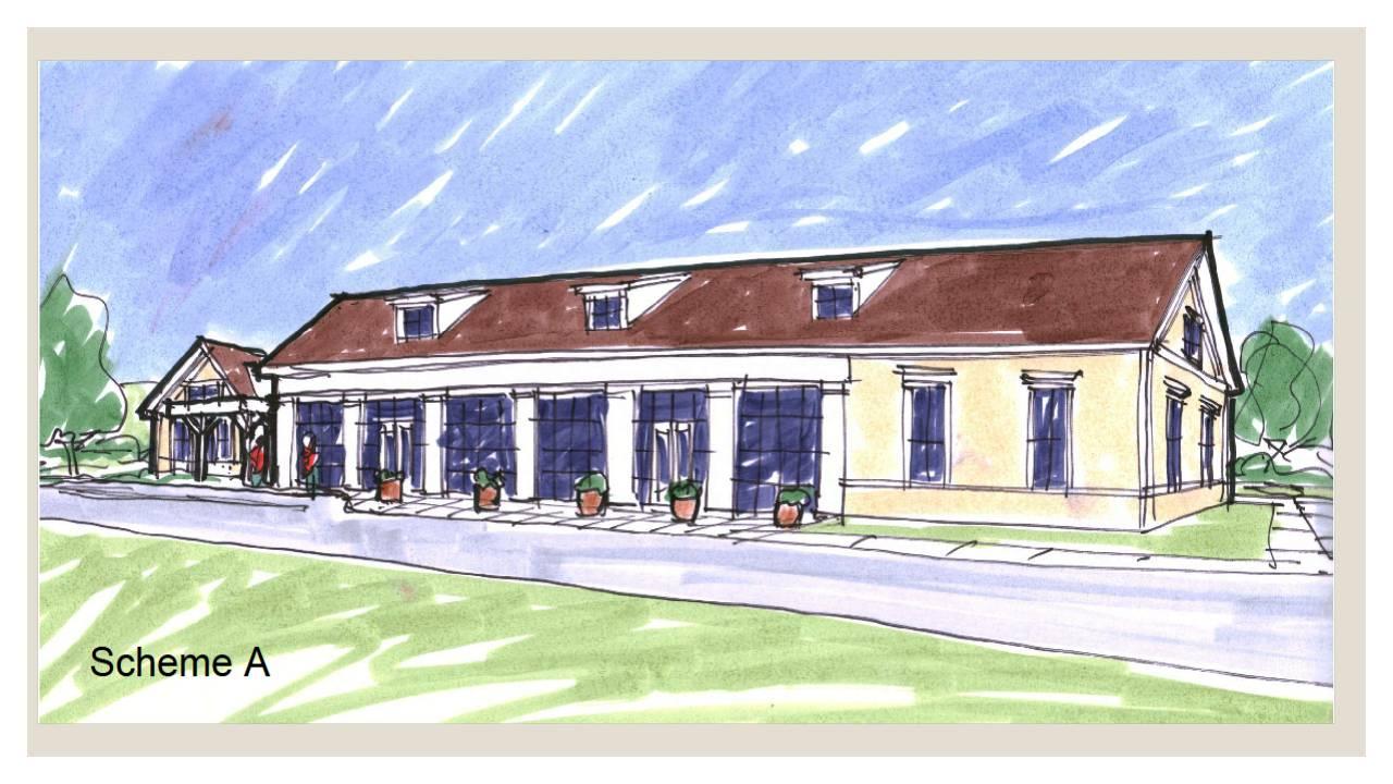 senior center conceptual design plan 4 - Conceptual Design House