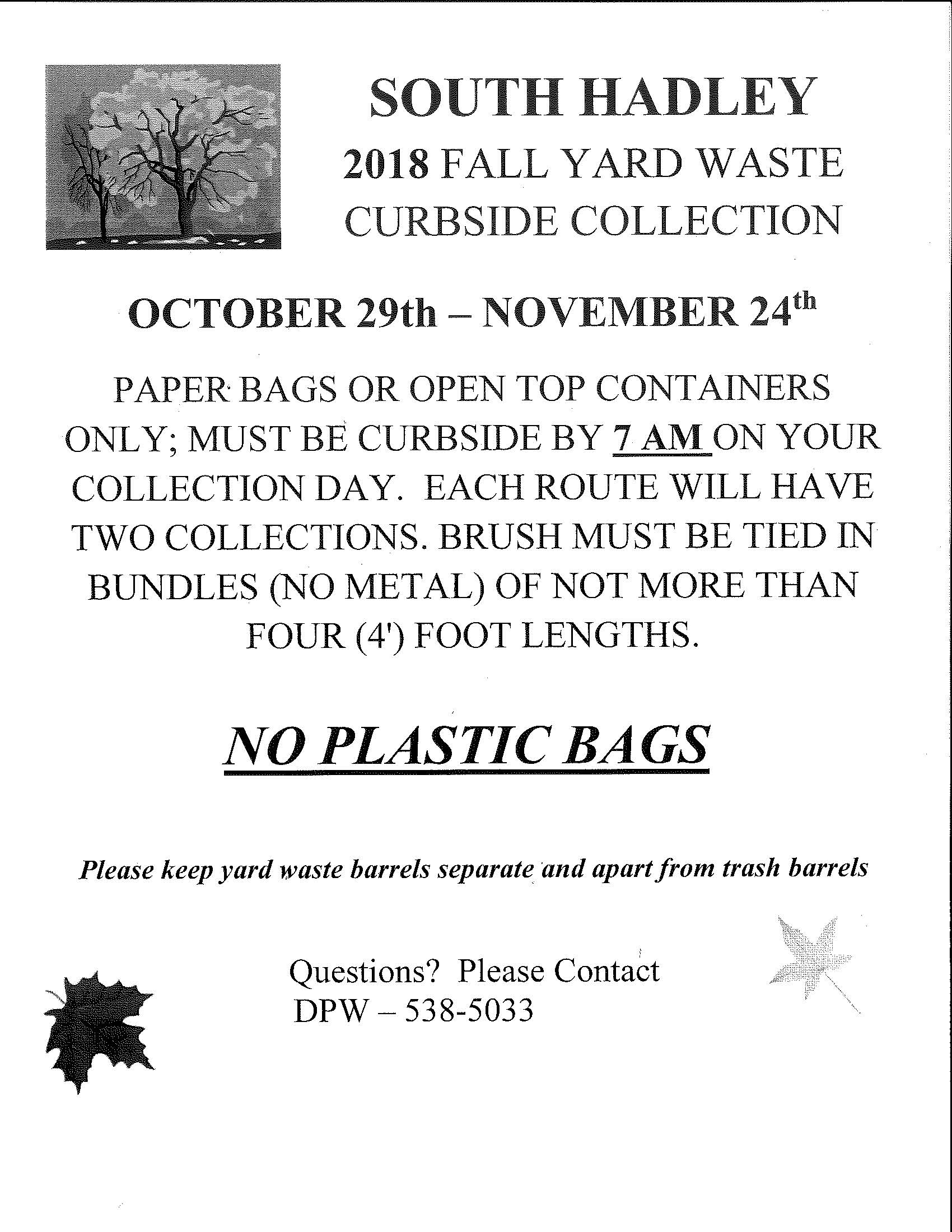 Fall Yard Waste 2018
