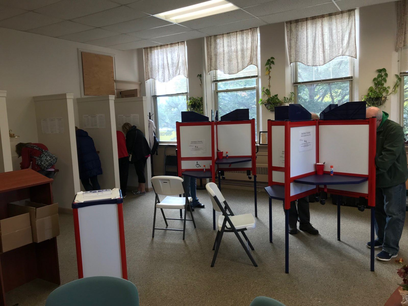 Early Voting Booths
