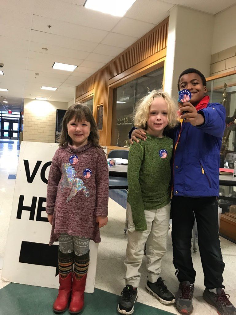 Kids with stickers Nov 7 2018 state election