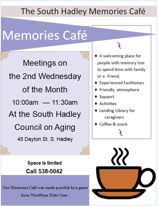 Updated Memories Cafe Flyer 2019
