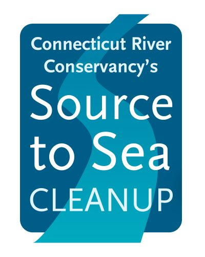 A logo of a blue rectangle with a lighter blue river shape with the text CT River Source to Sea on t