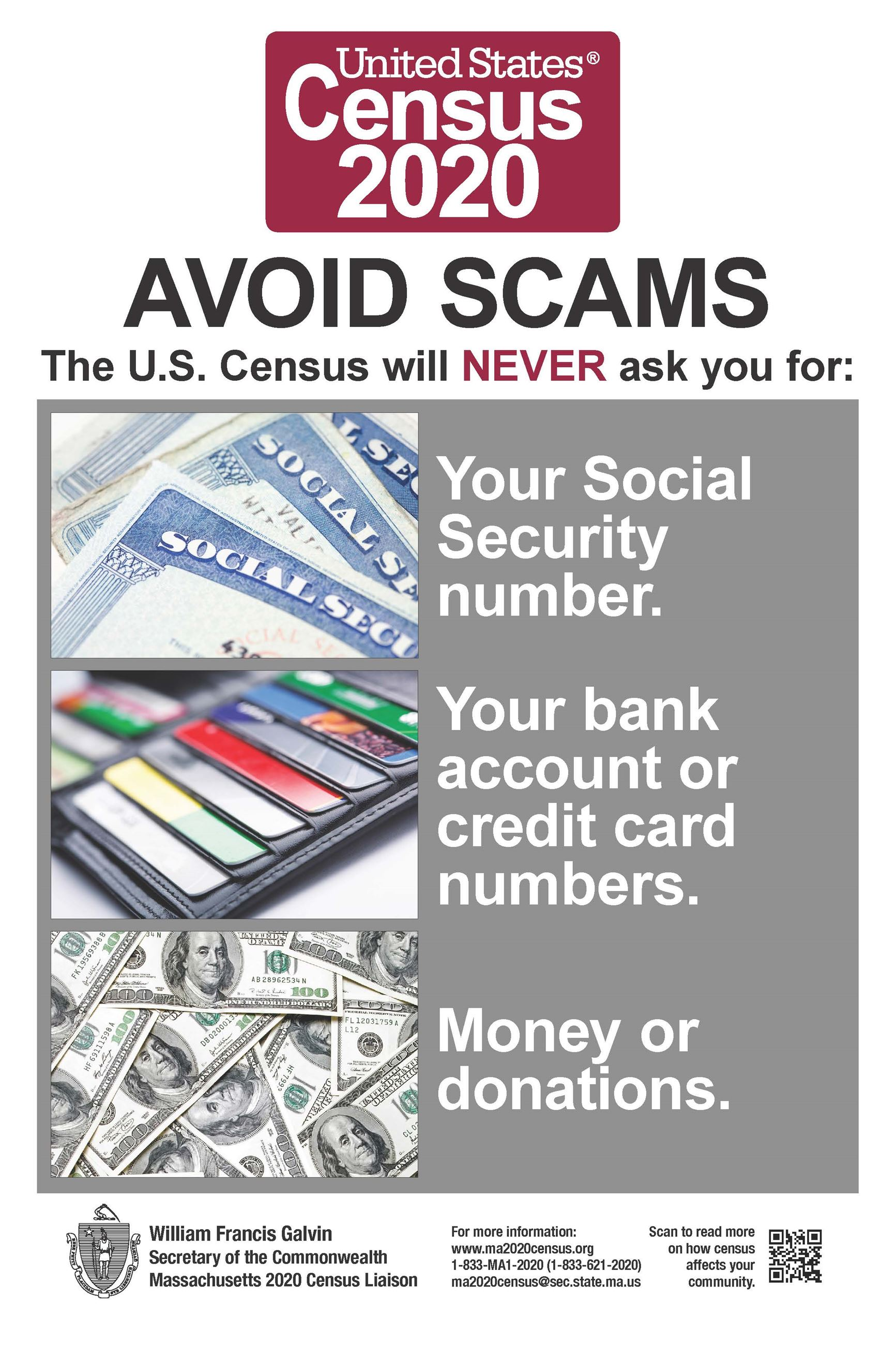 Census Avoid Scams poster (PDF)