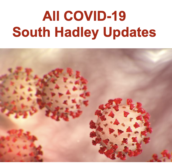COVID-19 cells with the text All COVID19 South Hadley Updates