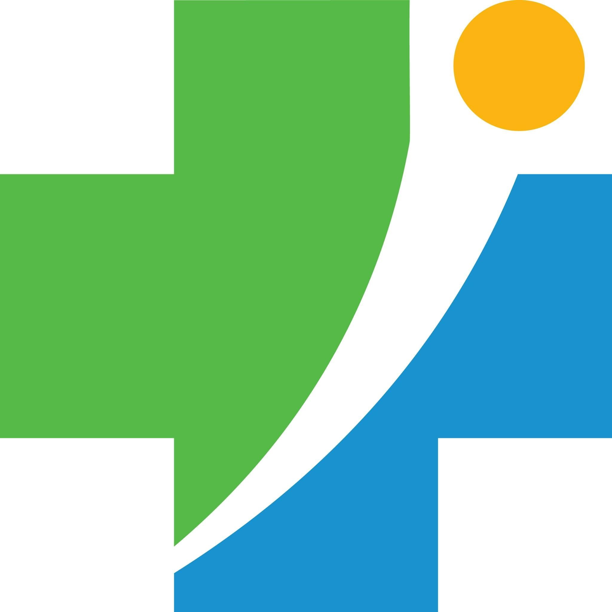 A blue, orange and green logo for Holyoke Medical Center